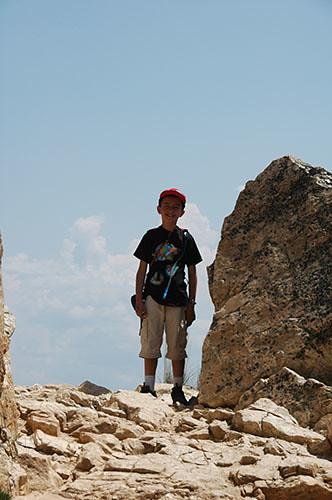 Grand Teton - Nadav Climbing to Inspiration Point