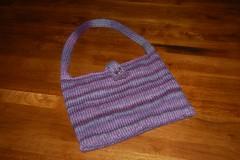 Purple Knitted Purse 2
