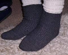 Snake Skin socks finished 003