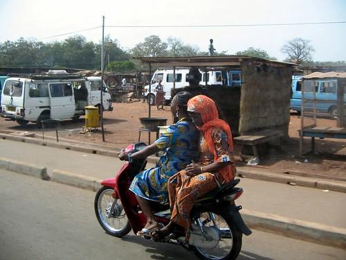 Women on motorbikes