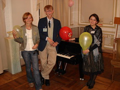 Jane, Victor and Masha with piano