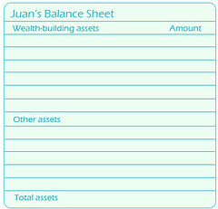 blank balance sheet - assets