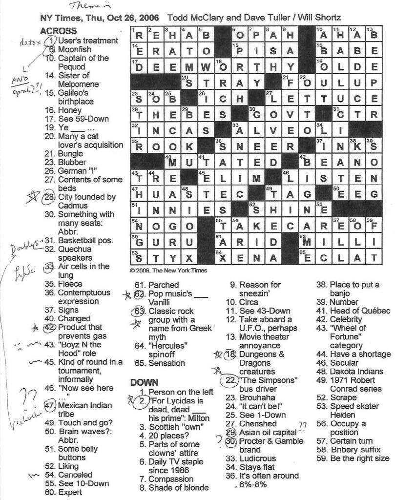 Rex Parker Does the NYT Crossword Puzzle... - Rex Parker