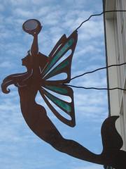 Mermaid sign on Friday Harbor's main drag -- San Juan Islands, Washington State