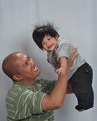 Dad with Rockstar Baby