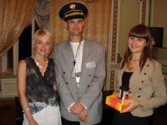 Happy toastmasters - Yulia, Roman, Alla