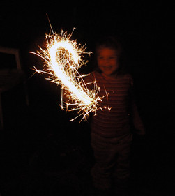 Alex's first sparkler