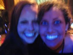 Neon dancing at Cozy Bar