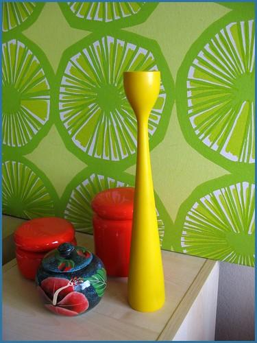 yellow illums bolighus candlestick holder