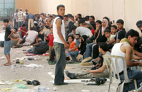 Palestinians fleeing from Gaza