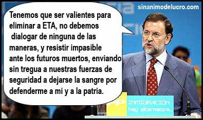 Rajoy y ETA