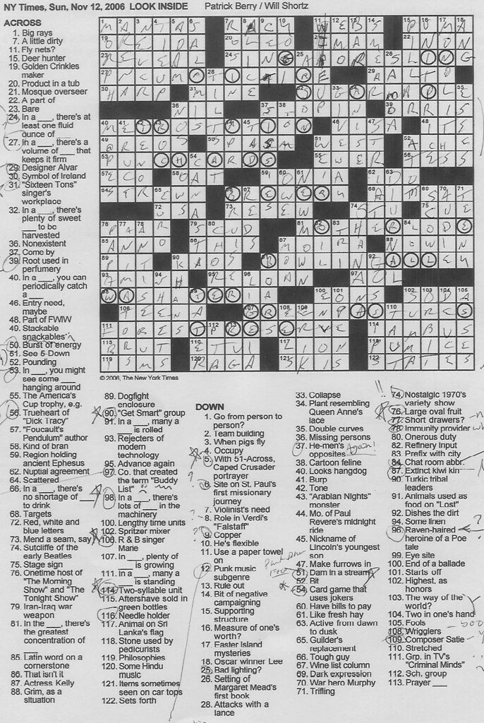 Rex Parker Does The New York Times Crossword : parker, times, crossword, Parker, Crossword, Puzzle:, SUNDAY,, Patrick, Berry