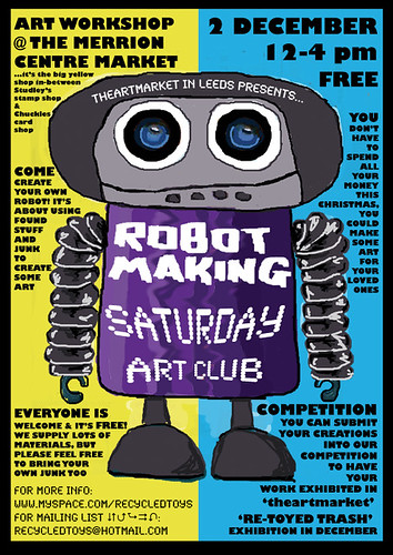 New Robot Making poster for workshop this Saturday