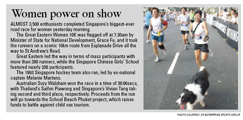 That's me running in the Great Eastern 10km women's run