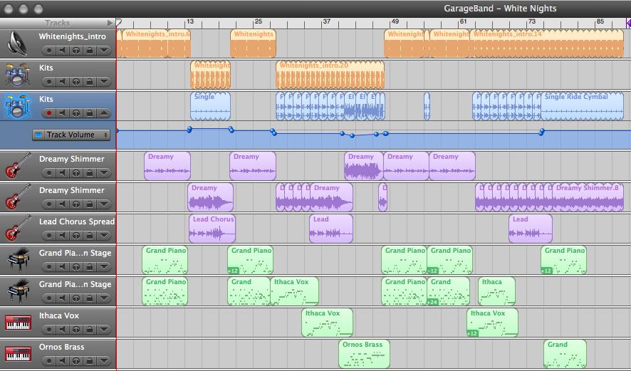 screenshot - GarageBand: White Nights
