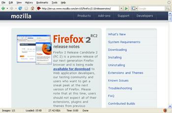 Firefox 2 RC2