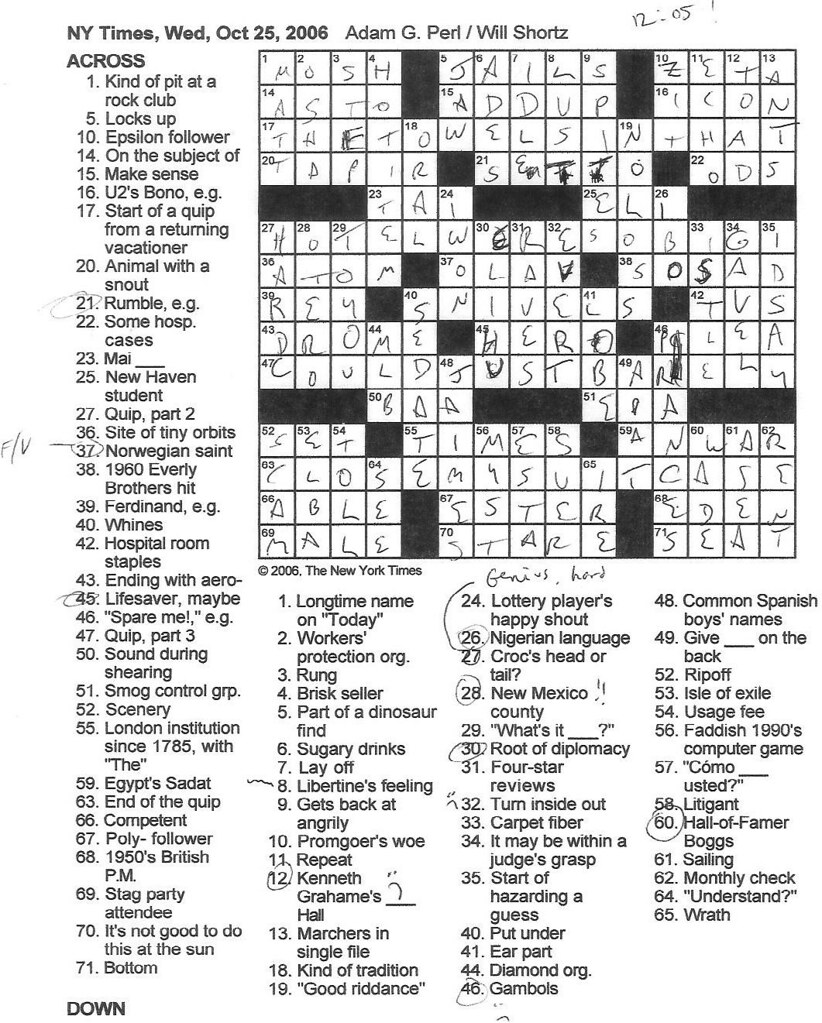 Rex Parker Does The New York Times Crossword : parker, times, crossword, Parker, Crossword, Puzzle:, WEDNESDAY,