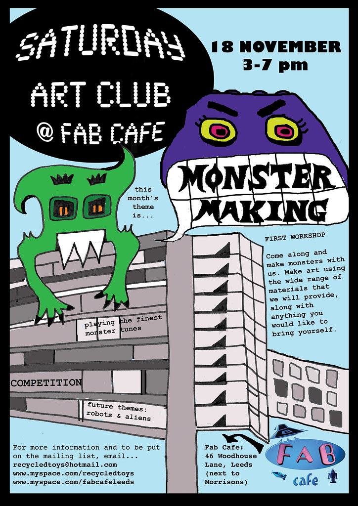 Saturday Art Club poster