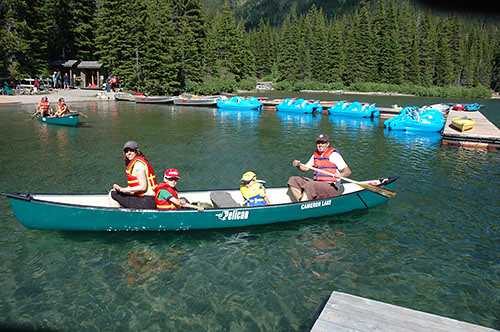 Waterton Lake - Canoeing on Cameron Lake