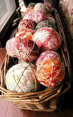 fabric balls and yoyos