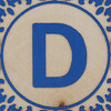 Block Letter D