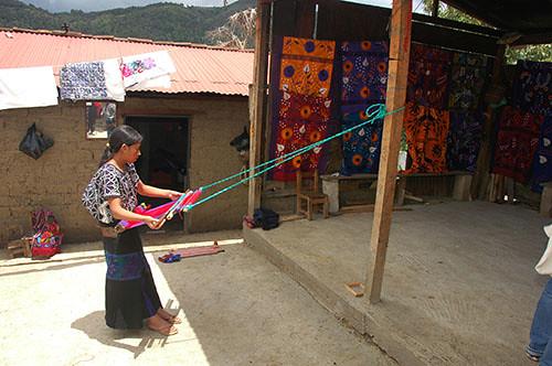 Zinacantan - 12 Woman weaving