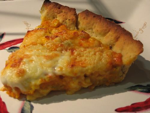 pumpkin, corn and cheese pie