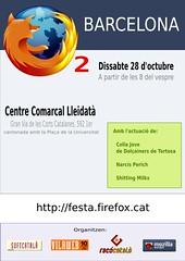 Cartell festa Firefox a Barcelona