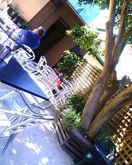 Anise café courtyard