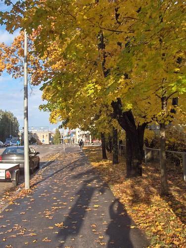 Street Scene with Me Shadow
