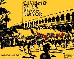 civismo en la plaza mayor