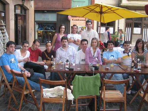 Todo el grupo en la terraza del Viajero