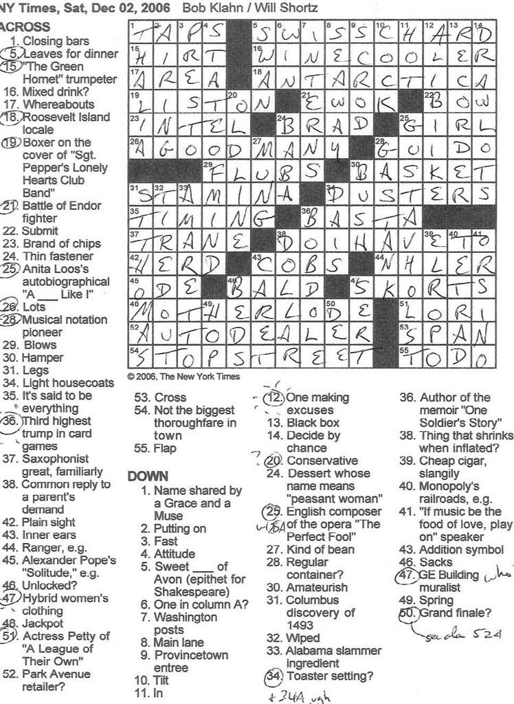 1220-20 NY Times Crossword 20 Dec 20, Sunday