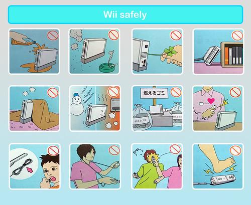 Manual de seguridade da Wii