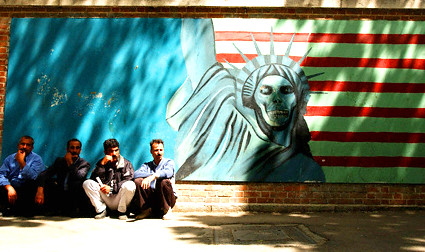Mural on the side of former US Embassy in Tehran - Iran