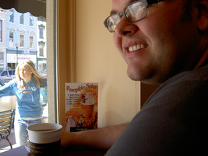 marc at coffee shop