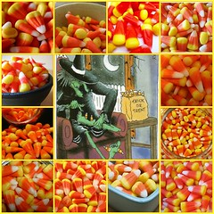 Candy Corn Mosaic by Mojeecat