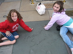 In front of Mann's Chinese Theatre: At least they knew who Sinatra was!