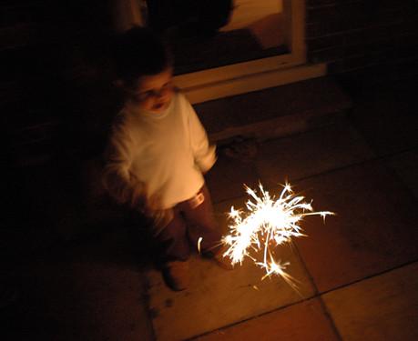 Jackson's first sparkler