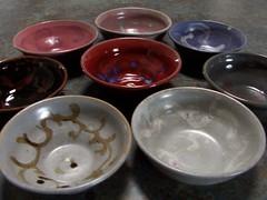 Multicolored Bowl Set Close Up