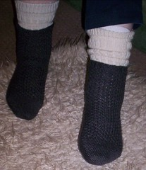 Snake Skin socks finished 001