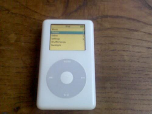 El iPod después de la operación
