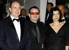 Bono y Ali Hewson en Monaco