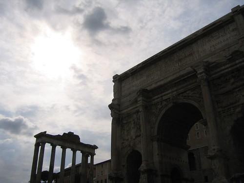 Dusk in the Roman Forum
