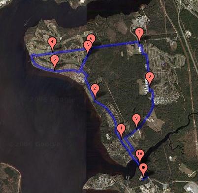 Figure 8 Route
