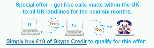 Skype offer free uk calls