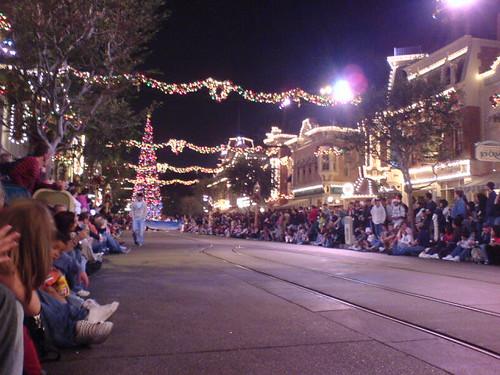 Christmas Parade at Night