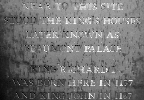 King Richard and King John born here