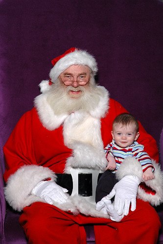 My first picture with Santa Claus