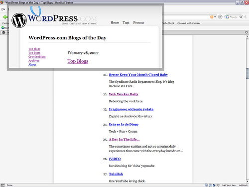 Top Blogs - Feb 28 2007 (WordPress)
